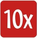 10 X logo